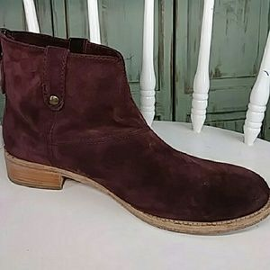 Johnson and Murphy brown leather suede ankle boots